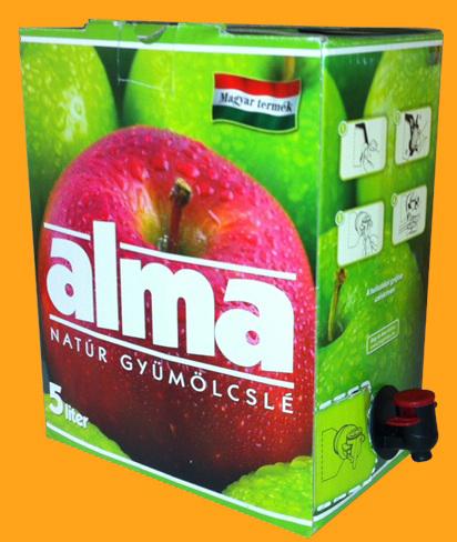Bag in box gyümölcslé